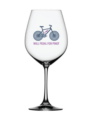Will Pedal for Pinot wine glass