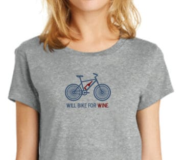 Will Bike for Wine T-Shirt