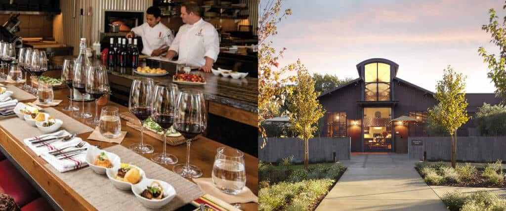 A food and wine pairing at B Cellars winery in Napa Valley