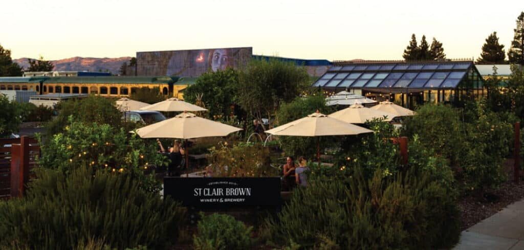 St. Clair Brown Beer Garden Downtown Napa